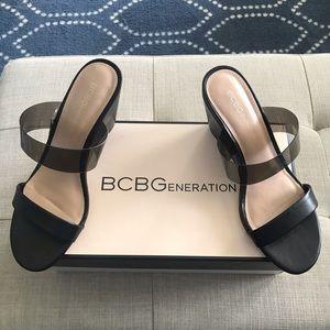 NWT BCBG Pina Wedge Slide Sandals